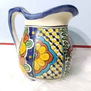 Vintage Talavera Mexican Onofre 7 1/2 Pitcher